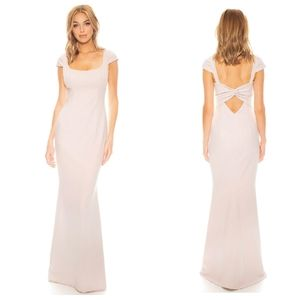 NEW KATIE MAY Georgia Ballet Pink Twist Back Gown